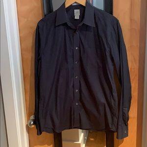 Gap M's Long Sleeve Dress Shirt Navy